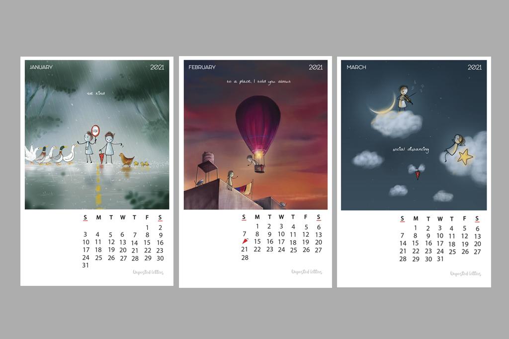 Calendar 2021 Illustrfartions1