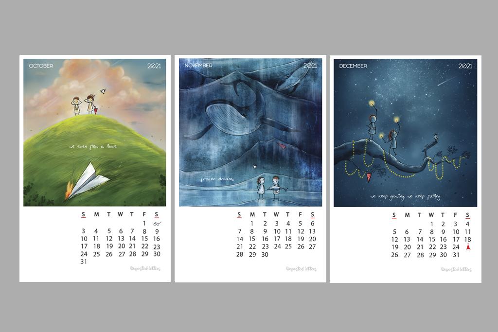 Calendar 2021 Illustrfartions4